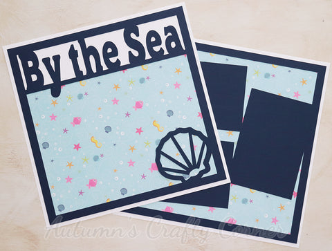 By the Sea  - Premade Scrapbook Double (2) Page 12x12 Layout