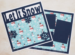 Let It Snow  - Premade Scrapbook Double (2) Page 12x12 Layout