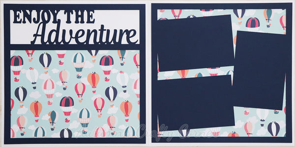 Enjoy the Adventure - Scrapbook Page Kit