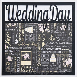 Wedding Day - Premade Scrapbook Page 12x12 Layout
