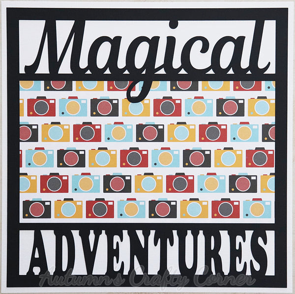 Magical Adventures - Premade Scrapbook Page 12x12 Layout
