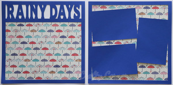 Rainy Days - Scrapbook Page Kit