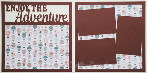 Enjoy the Adventure  - Premade Scrapbook Double (2) Page 12x12 Layout