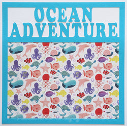 Ocean Adventure - Premade Scrapbook Page 12x12 Layout