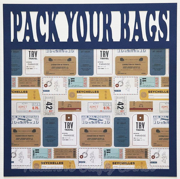 Pack Your Bags - Premade Scrapbook Page 12x12 Layout