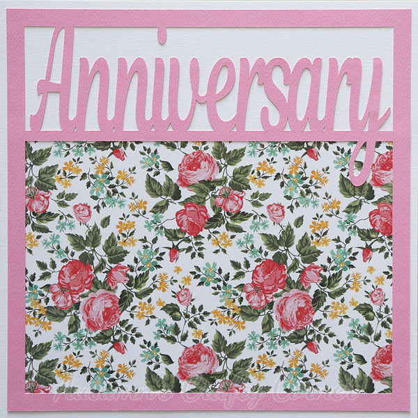 Anniversary - Premade Scrapbook Page 12x12 Layout