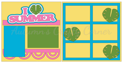 I Love (Leaf) Summer - Scrapbook Page Kit