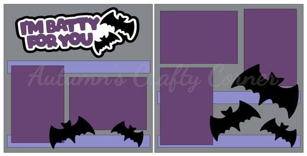 I'm Batty for You - Scrapbook Page Kit