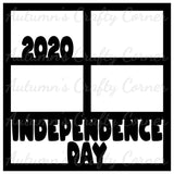 Independence Day 2020 - 4 Frames - Scrapbook Page Overlay Die Cut - Choose a Color