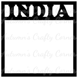 India - Scrapbook Page Overlay Die Cut - Choose a Color