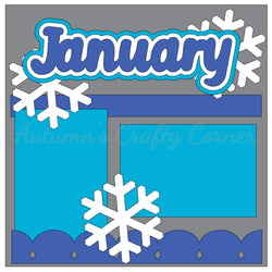 January - Single Scrapbook Page Kit