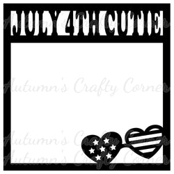 July 4th Cutie - Scrapbook Page Overlay Die Cut - Choose a Color
