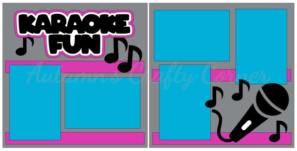 Karaoke Fun - Scrapbook Page Kit