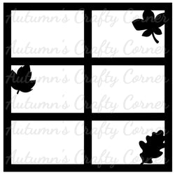 Autumn Leaves - 6 Frames - Scrapbook Page Overlay Die Cut - Choose a Color