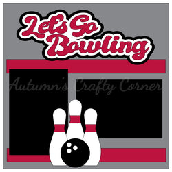 Let's Go Bowling - Single Scrapbook Page Kit