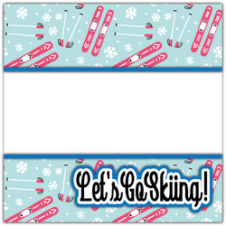 Let's Go Skiing! - Printed Premade Scrapbook Page 12x12 Layout