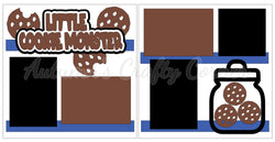 Little Cookie Monster - Scrapbook Page Kit