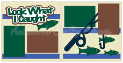 Look What I Caught - Fishing - Scrapbook Page Kit