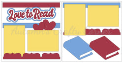 Love to Read - Scrapbook Page Kit
