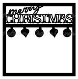 Merry Christmas - Scrapbook Page Overlay - Choose a Color