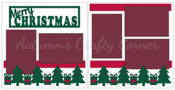 Merry Christmas - Scrapbook Page Kit
