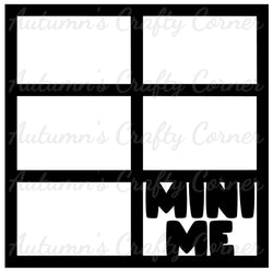 Mini Me - 6 Frames - Scrapbook Page Overlay Die Cut - Choose a Color