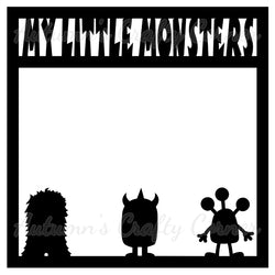 My Little Monsters - Scrapbook Page Overlay Die Cut - Choose a Color