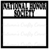 National Honor Society - Scrapbook Page Overlay Die Cut - Choose a Color