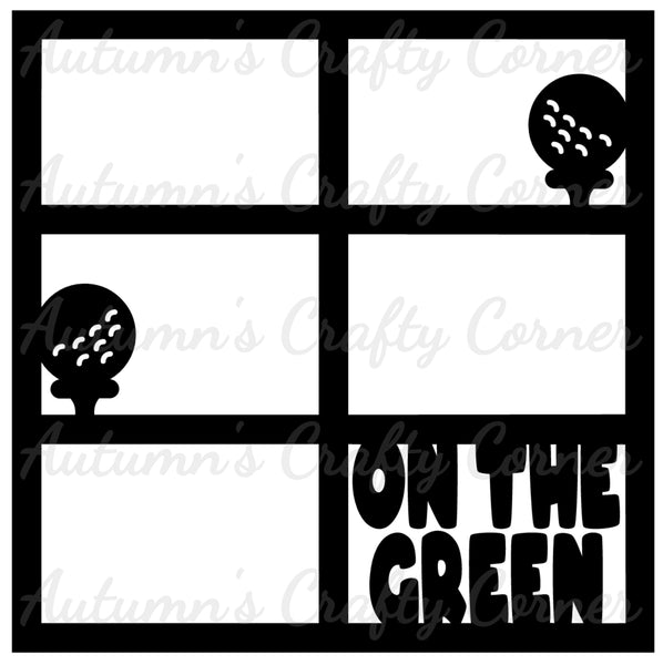 On the Green - Golf - 6 Frames - Scrapbook Page Overlay Die Cut - Choose a Color