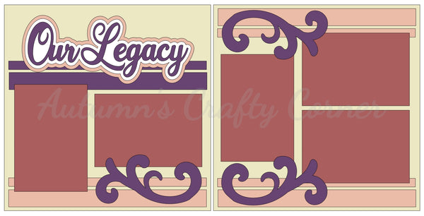 Our Legacy  - Scrapbook Page Kit