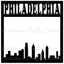 Philadelphia - Scrapbook Page Overlay Die Cut - Choose a Color