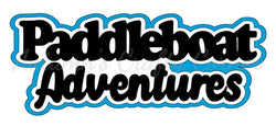 Paddleboat Adventures - Deluxe Scrapbook Page Title - Choose a Color