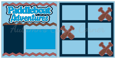Paddleboat Adventures - Scrapbook Page Kit