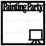 Painting Party - Scrapbook Page Overlay Die Cut - Choose a Color