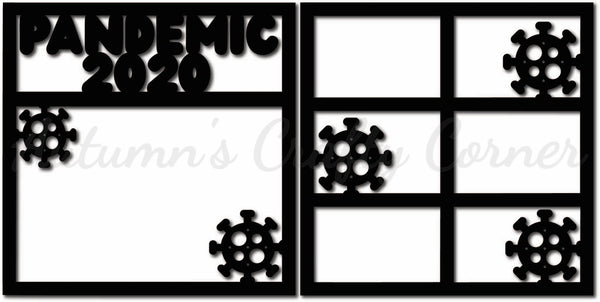 Pandemic 2020 - Scrapbook Page Overlay Set - Choose a Color