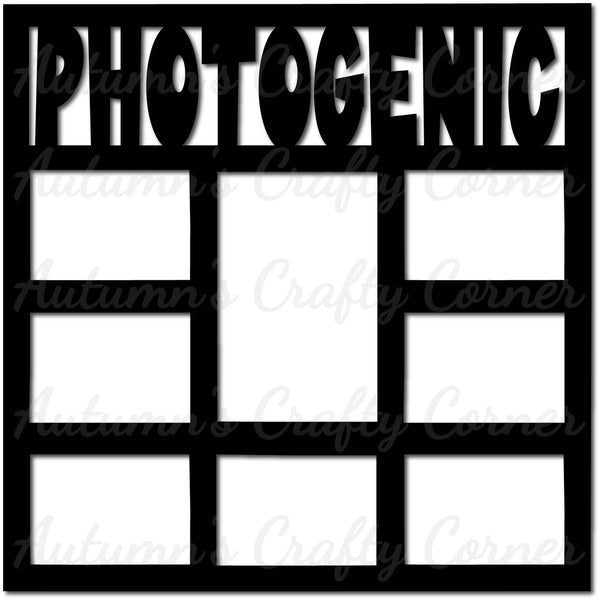 Photogenic - Frames - Scrapbook Page Overlay Die Cut - Choose a Color