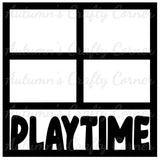 Playtime - 4 Frames - Scrapbook Page Overlay Die Cut - Choose a Color