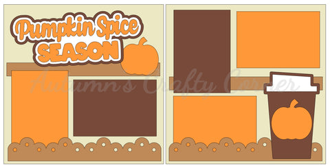 Pumpkin Spice Season - Scrapbook Page Kit