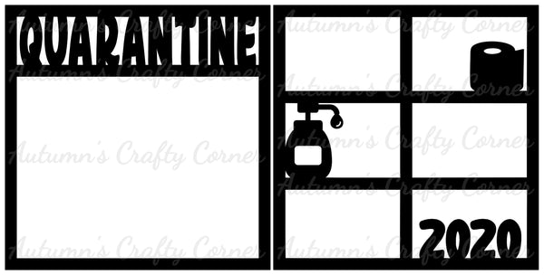 Quarantine 2020 - Scrapbook Page Overlay Set - Choose a Color