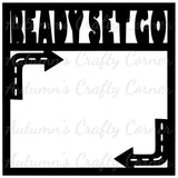 Ready Set Go - Scrapbook Page Overlay Die Cut - Choose a Color