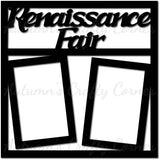 Renaissance Fair - 2 Vertical Frames - Scrapbook Page Overlay Die Cut - Choose a Color