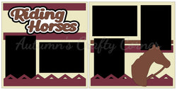 Riding Horses - Scrapbook Page Kit