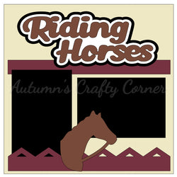 Riding Horses - Single Scrapbook Page Kit
