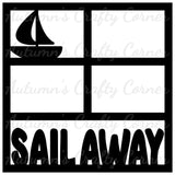 Sail Away - 4 Frames - Scrapbook Page Overlay Die Cut - Choose a Color