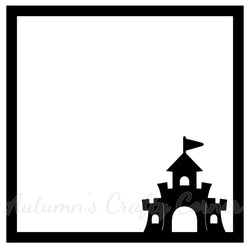 Sandcastle - Beach - Scrapbook Page Overlay Die Cut - Choose a Color