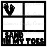Sand in My Toes - 4 Frames  - Scrapbook Page Overlay Die Cut - Choose a Color
