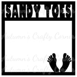 Sandy Toes - Scrapbook Page Overlay Die Cut - Choose a Color