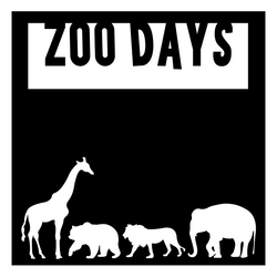 Zoo Days - Scrapbook Page Overlay - Choose a Color