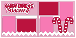 Candy Cane Princess - Scrapbook Page Kit