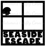Seaside Escape - 4 Frames - Scrapbook Page Overlay Die Cut - Choose a Color